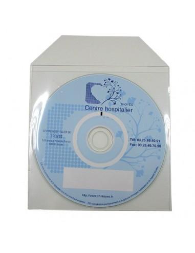Pochette CD avec rabat et dos non adhésif