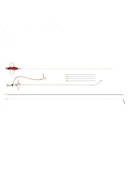 TLab Pistolet de biopsie hépatique transjugulaire 19G avec cathéter droit et courbe