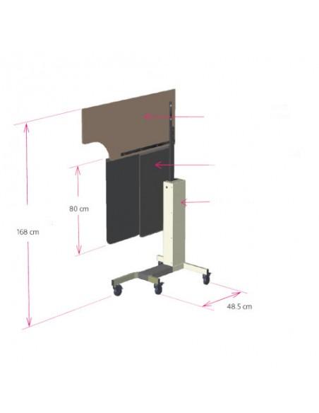Paravent mobile anatomique écran plombé réglable Eq Pb 0.5mm